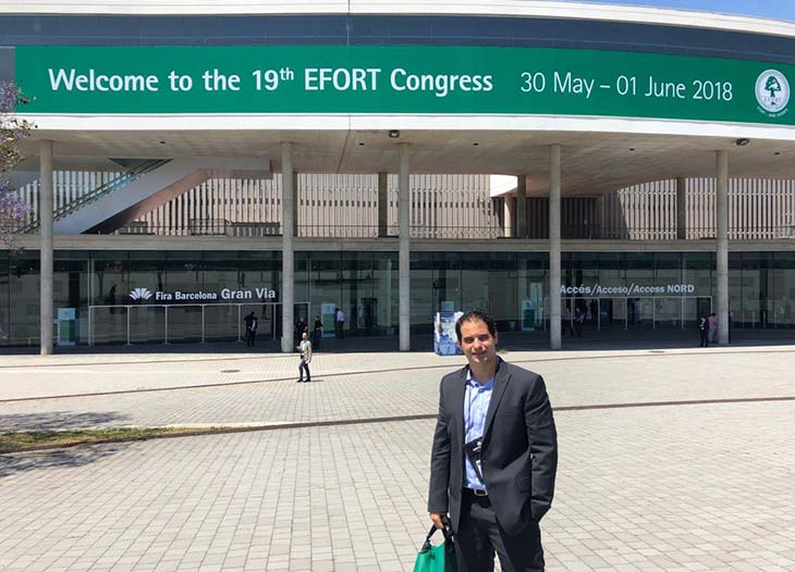 Dr. RODRIGO CALIL, ortopedista especialista em joelho do Instituto Abathon, participou do 19th EFORT CONGRESS 2018, na cidade de Barcelona.