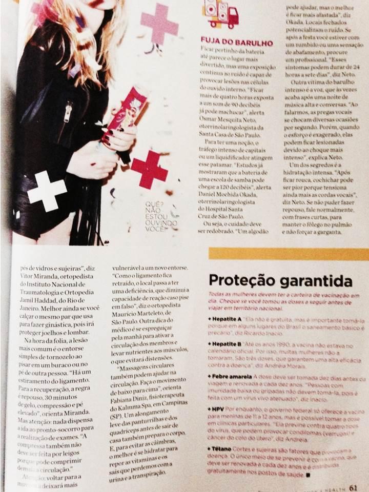 Ligia Reis nutricionista concede entrevista na revista Women's Health